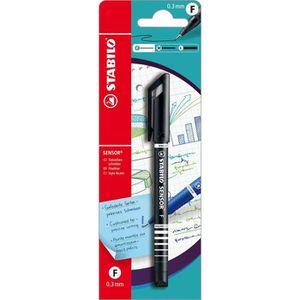 Stylo - Parure STABILO 1 stylo-feutre SENSOR F noir - pointe fine
