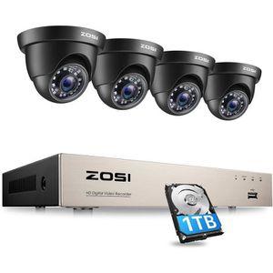 CAMÉRA DE SURVEILLANCE ZOSI 720p HD Kit de Surveillance Extérieur 8CH 108