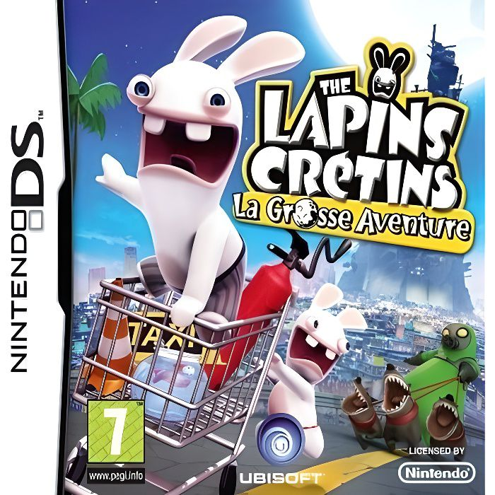 the lapins cretins la grosse aventure jeu cons achat vente jeu ds dsi lapins cretins. Black Bedroom Furniture Sets. Home Design Ideas