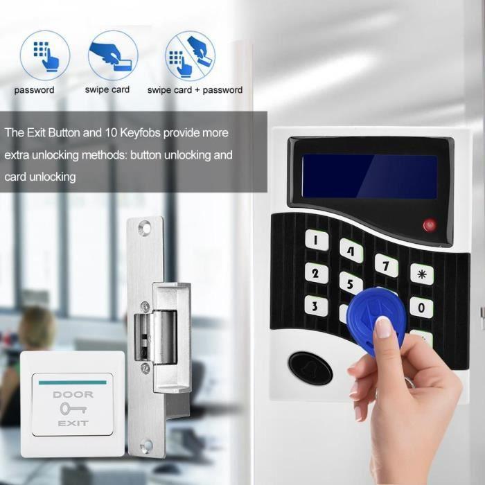 Kit de système de contrôle d'accès de porte 010ID RFID avec aucun bouton 10 de sortie télécommande