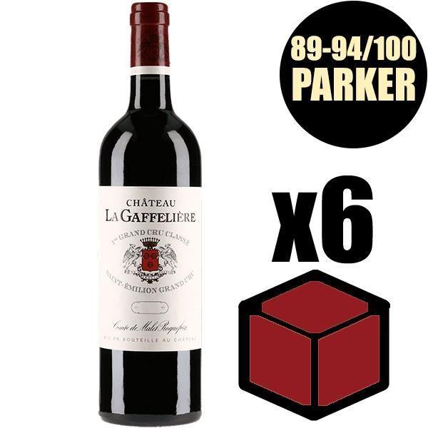 X6 Château La Gaffelière 2015 75 cl AOC Saint-Emilion Grand Cru 1er Grand Cru Classé B Rouge Vin Rouge