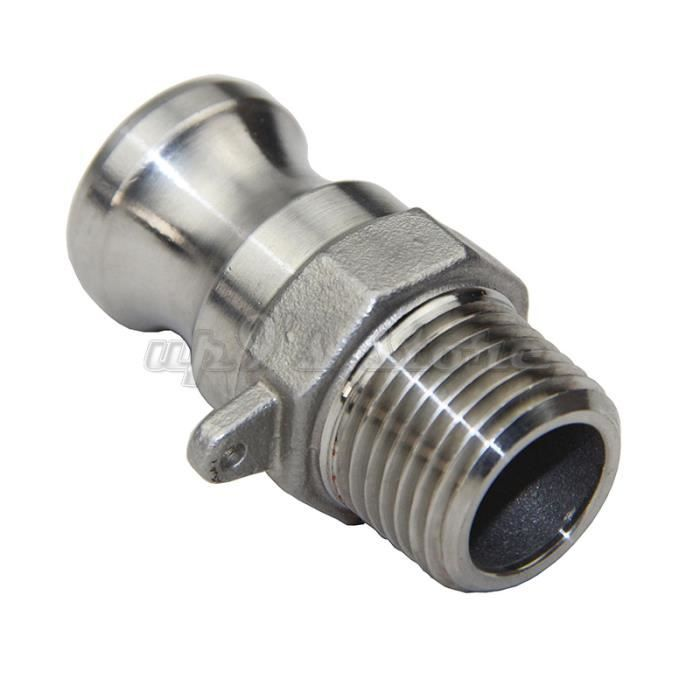 Livraison gratuite 1/2 '' NPT de type F adaptateur Camlock Fitting en acier inoxydable 304