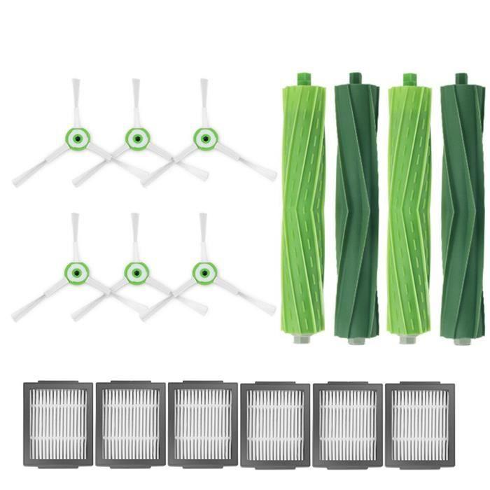Kit de filtre et de brosse à rouleau et latérale pour iRobot Roomba i7, i7+,pièces de robot aspirateur, E5, E6, E7, i7 Plus, R004