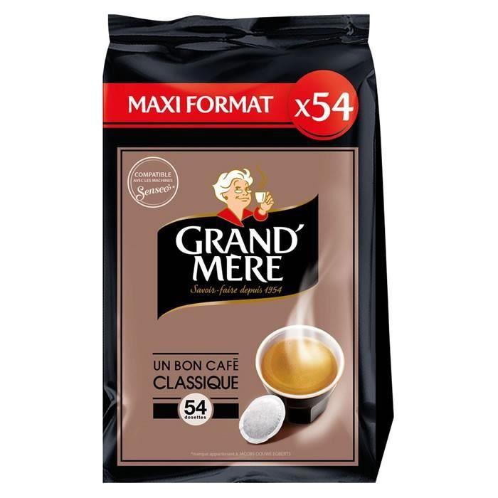 LOT DE 3 - GRAND MERE Classique - 54 Dosettes de café Compatible Senseo