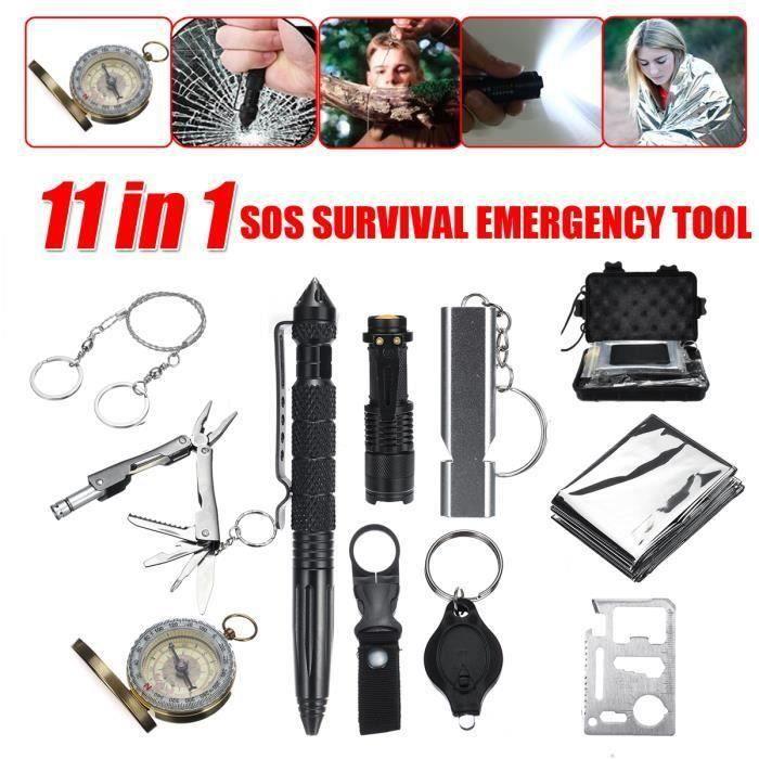 Kit de Survie d'urgence Multi-outils SOS pour Randonnée Camping So57027