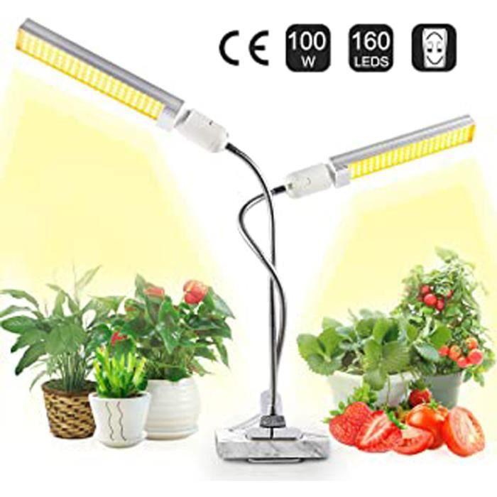 Lot De 160 Ampoules Led À Double Tête Pour Plantes D'Intérieur 100 W