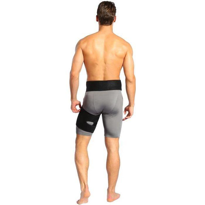 Attelle de hanche - soutien de l'aine pour soulager la douleur sciatique, soutien de la cuisse attelle de soulagement de la