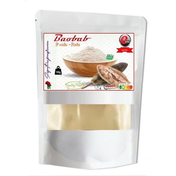 poudre baobab Qualité supérieure-100g