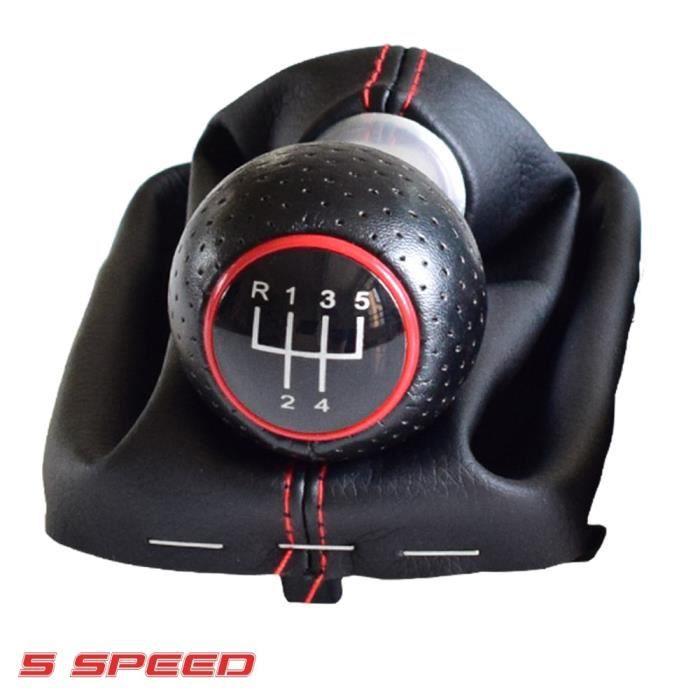 Pommeau,Collier de voiture pour Audi A3, S3, manette de vitesse, 2001, 5 6 vitesses, décoration de - Type Red-5 Speed