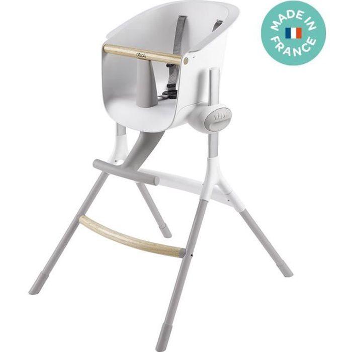 BEABA Chaise haute bébé Up&Down Gris/Blanc