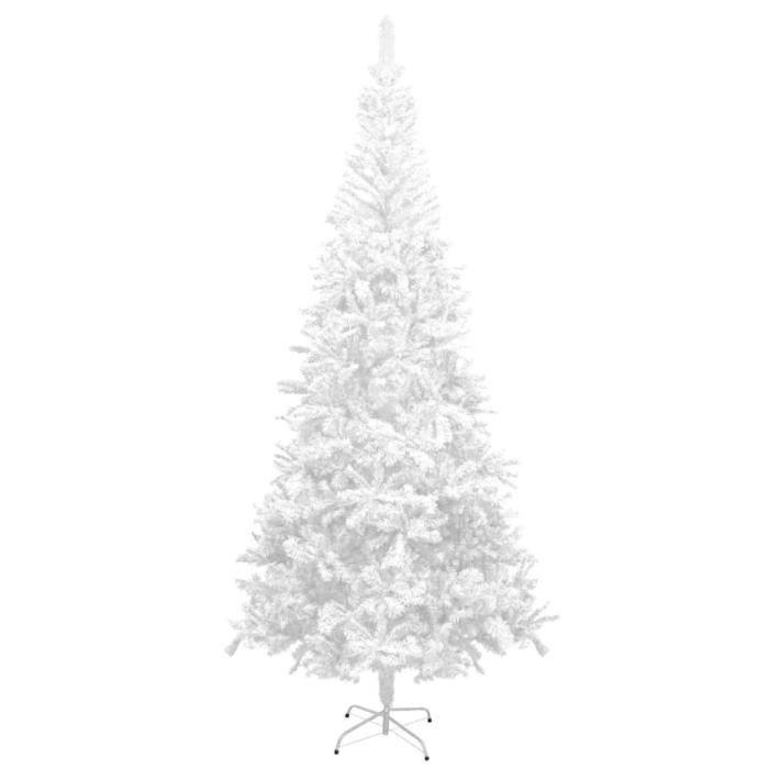 Sapin de Noël artificiel L 240 cm Blanc -Réutilisable -ALA