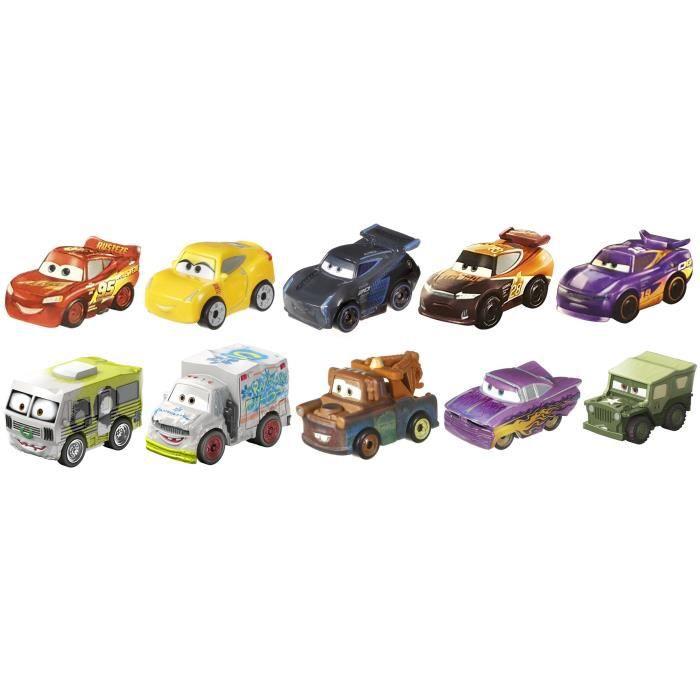 Voiture Electrique DISNEY Pixar Cars Mini Racers, 10 Pack GH4O3