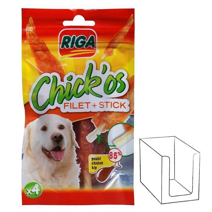 RIGA CHICK'OS filets de poulet + stick x 4 pour chien
