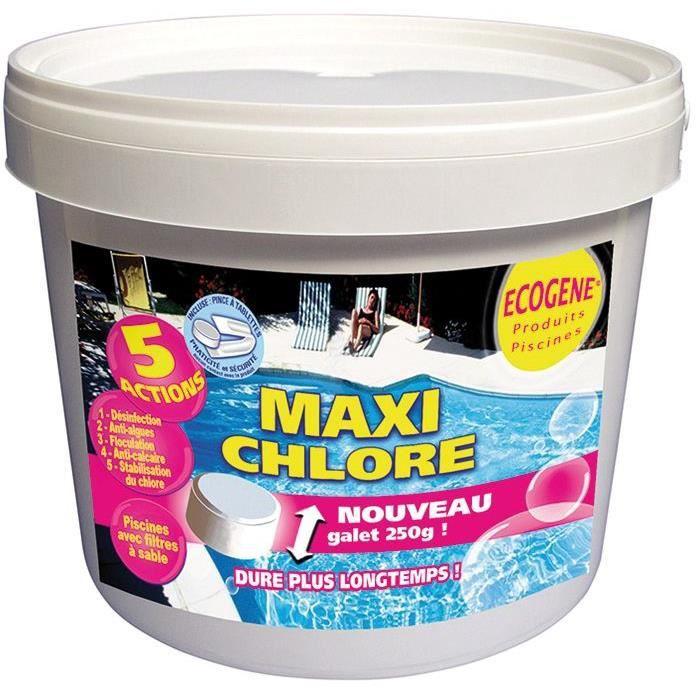 Tablettes 200 g maxi chlore - seau 5 Kg