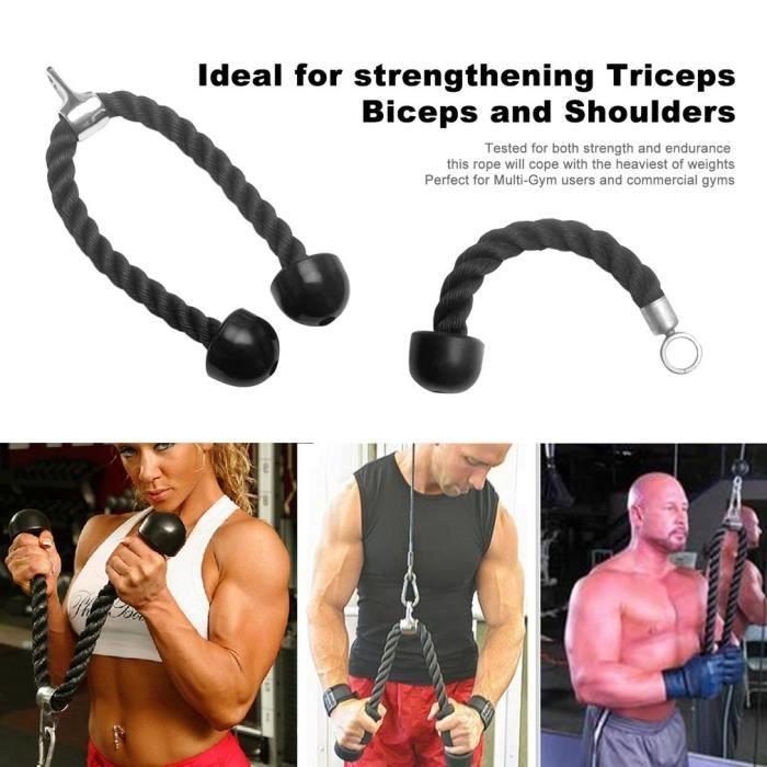 câble de fixation de corde de triceps robuste musculation en plastique en nylon gym pour triceps biceps épaules