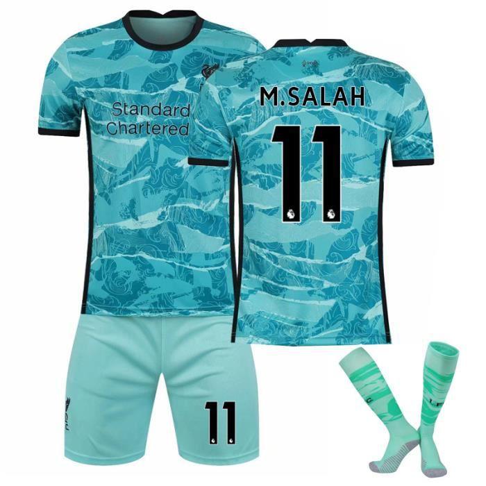 Gris foncé 20 nouveau maillot 2021 Liverpool maillot de football personnalisé costume de sport pour les enfants de sexe mas