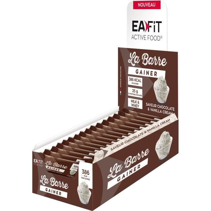 EAFIT La Barre Gainer Chocolat & Vanille Cream - Présentoir x16 barres 90 g