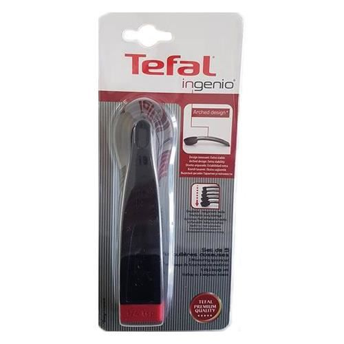 Tefal - Set de 5 cuillères doseuses - Design - Noir/Rouge
