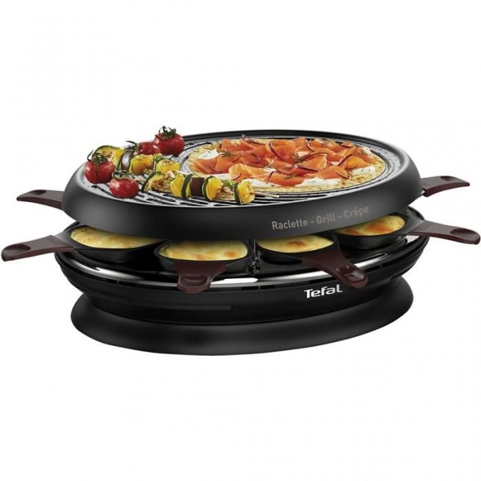 Tefal Raclette - Fondue Raclette Colormania noir RE320012