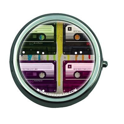 Boite à pilules miroir Vintage Music K7 Multi