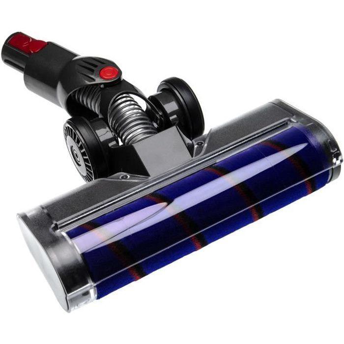 vhbw buse de sol buse soft remplace Dyson 966489-08, 966489-11 pour aspirateur - gris / lilas / rouge / noir 25cm avec mousse soft