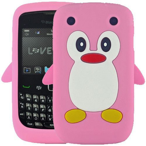 Coque en silicone pingouin pour blackberry curve 9 car for Housse blackberry curve