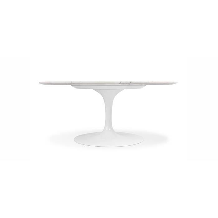 Table ronde tulipe marbre inspir e eero saarinen achat for Table ronde pied tulipe