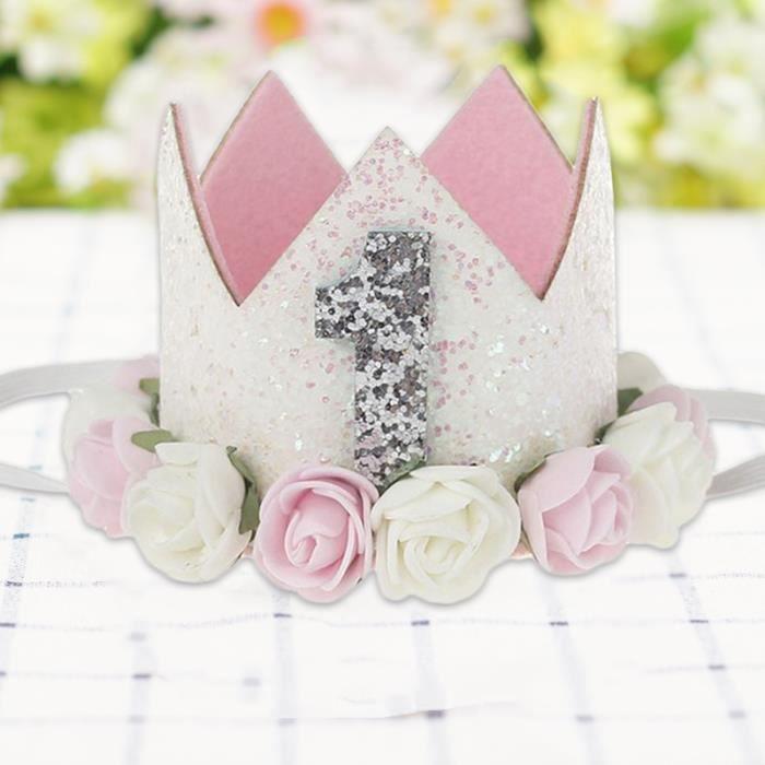 Chapeau Bonnet Mignon Bébé Enfant Filles Accessoire pour cheveux élastique Fleur Bandeau