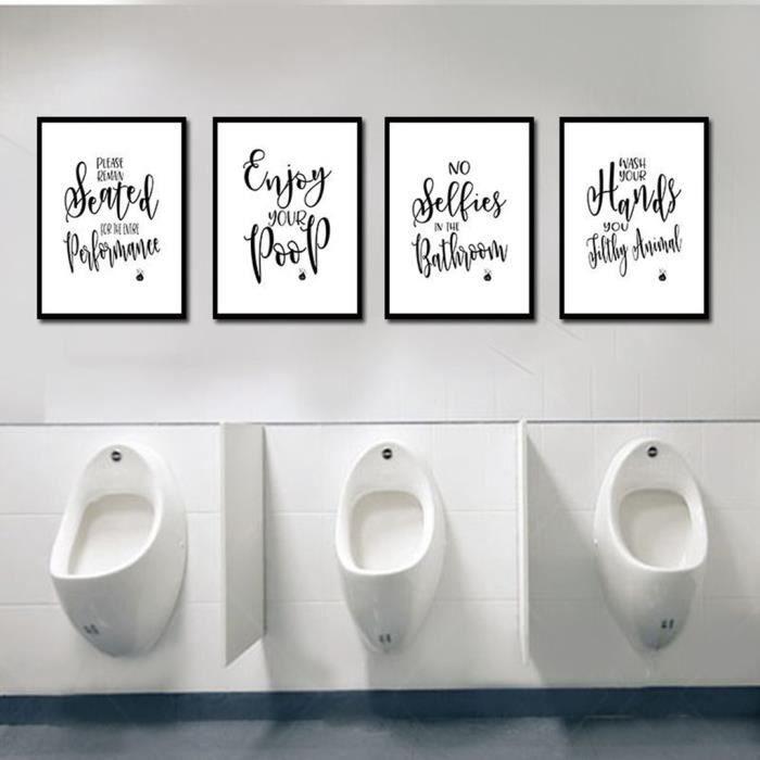 4 Pièces 8x12 Pouces Salle De Bains Citations Affiches Dictons Art Imprime Sans Cadre Cadeau Pour Décor Citations Affiches Affic Achat Vente Affiche Poster Prolongation Soldes Cdiscount