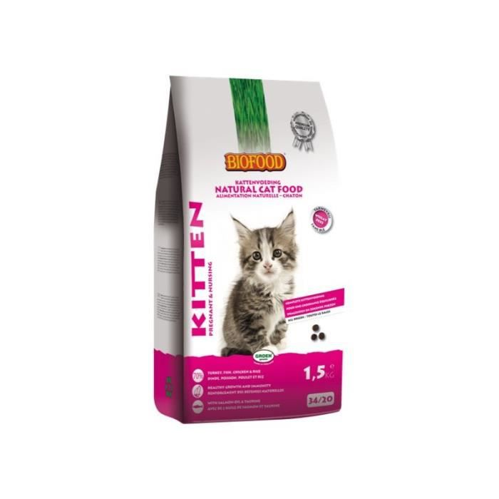 CROQUETTES Biofood Chat kitten Chaton 1,5Kg