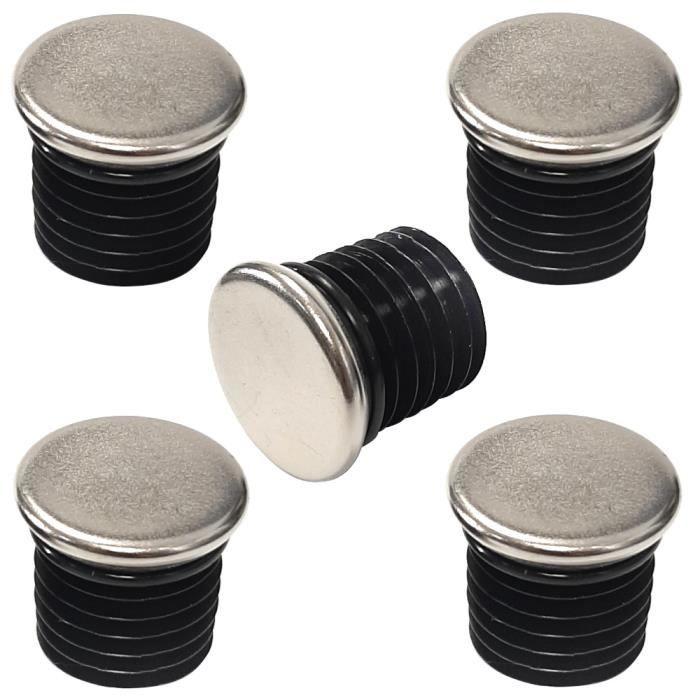 5 Stck bouchon pour tube rond 30 noir plastique Embout bouchons dobturation