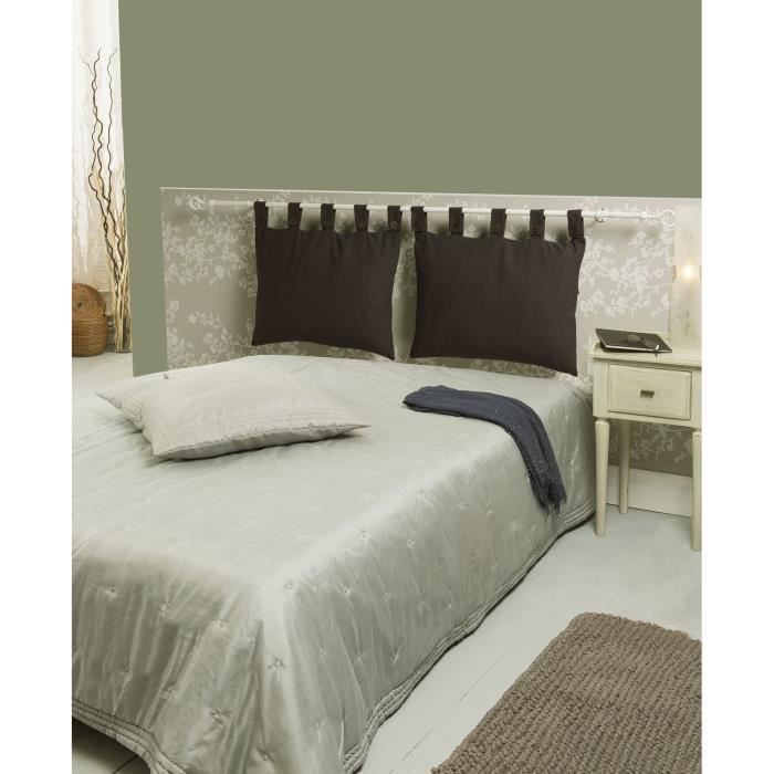 t te de lit d houssable choco 50x70cm achat vente. Black Bedroom Furniture Sets. Home Design Ideas