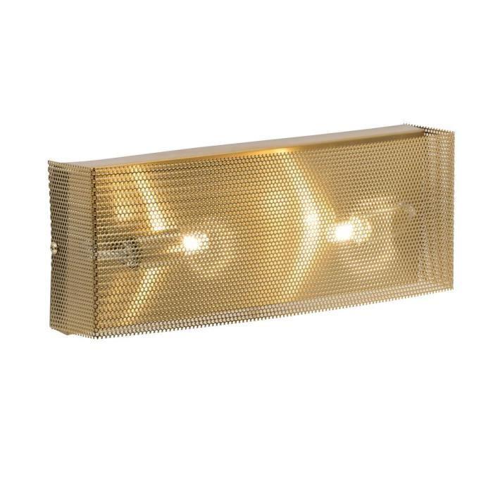 APPLIQUE  Applique laiton MESHEL dorée en métal brossé