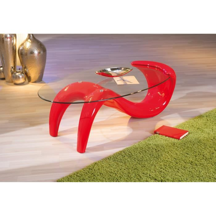 Table basse bella rouge achat vente table basse table basse bella rouge - Table basse rouge pas cher ...