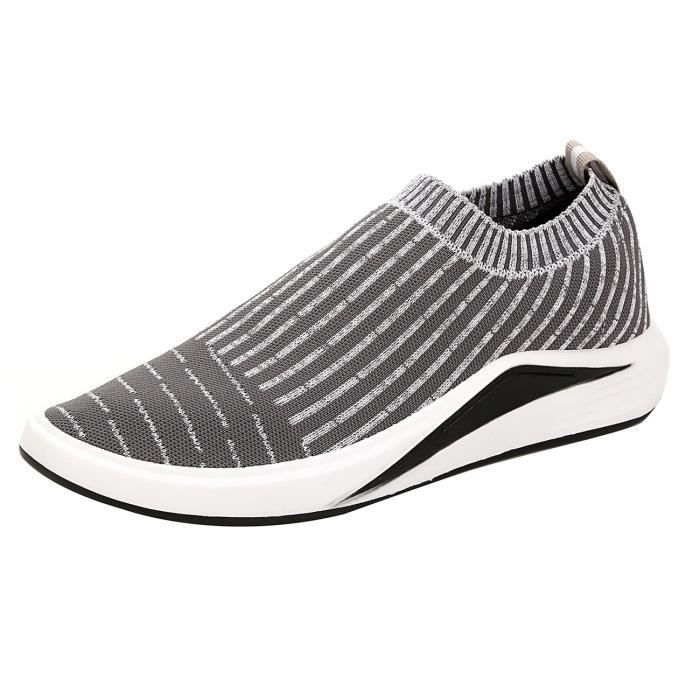 Flyknit Slip respirant léger Sock Sport Courir Chaussures de sport Athletic Casual Shoes IEO45 41
