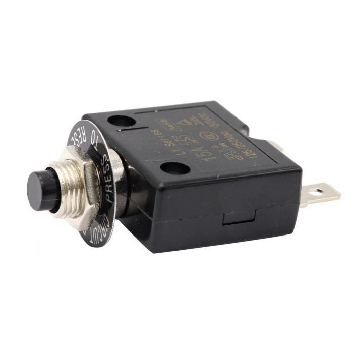 Sourcingmap Disjoncteur thermique avec bouton poussoir de r/éinitialisation et protection contre les surcharges avec capuchon /étanche