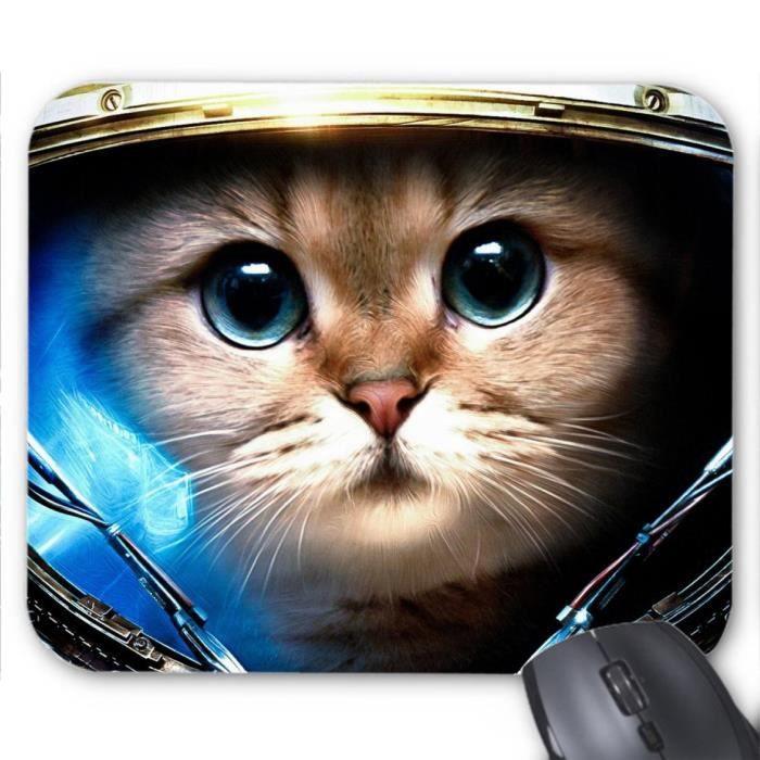 tapis de souris chat cosmonaute ref 365