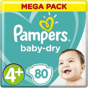 COUCHE PAMPERS Baby-Dry Taille 4+, 10-15 kg - 80 Couches