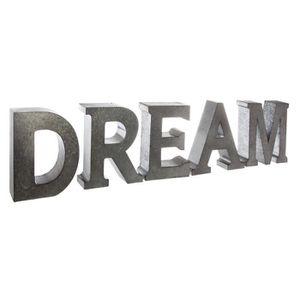 OBJET DÉCORATIF Lettres décoratives en métal DREAM Autres Gris