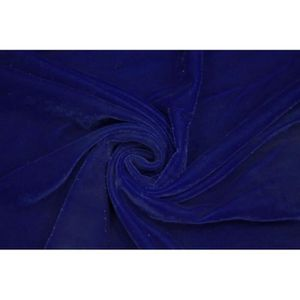 TISSU Tissu Velours Velvet Brillant Bleu Roi -Au Mètre