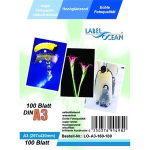 PAPIER PHOTO 100 Feuilles Papier Photo Adhésif A3 Premium Haute