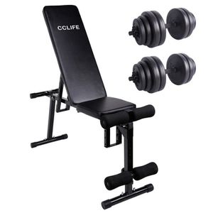 BANC DE MUSCULATION CCLIFE Banc de musculation multifonction inclinabl