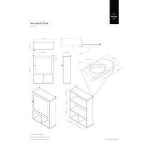 MIROIR Premier Housewares Armoire de salle de bains Porte
