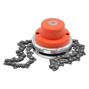 TONDEUSE Tondeuse à gazon tondeuse tête chaîne en métal out
