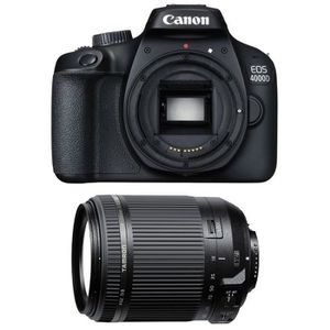 APPAREIL PHOTO RÉFLEX CANON EOS 4000D + TAMRON 18-200 F/3.5-6.3 Di II VC