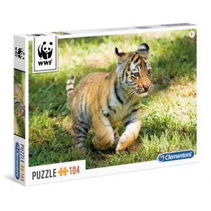 PUZZLE WWF Puzzle 104 pièces - Bébé Tigre