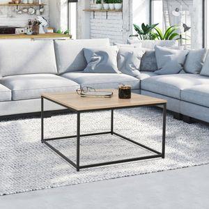 TABLE BASSE Table basse carrée DETROIT design industriel