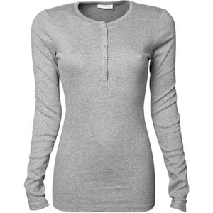 T-SHIRT T-shirt henley tunisien FEMME - 680 - gris - manch