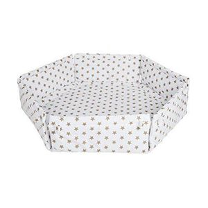Safetots Tapis de parc hexagonal en tissu