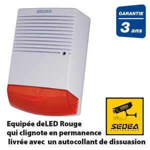 Alarme factice achat vente alarme factice pas cher for Sirene alarme exterieure filaire